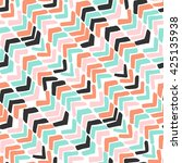 hand drawn chevron. colorful... | Shutterstock .eps vector #425135938