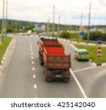 city road vehicles  blur | Shutterstock . vector #425142040