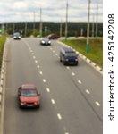 city road vehicles  blur | Shutterstock . vector #425142208
