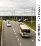 city road vehicles  blur | Shutterstock . vector #425142214