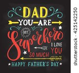 hand drawn typography poster. ... | Shutterstock .eps vector #425142250
