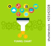 funnel chart flat style concept....   Shutterstock .eps vector #425142328