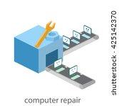 isometric  building of computer ... | Shutterstock . vector #425142370