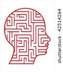 Stock vector labyrinth head vector 42514264