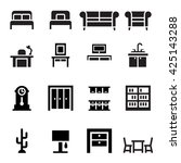 furniture  sofa  bed  wardrobe  ... | Shutterstock .eps vector #425143288