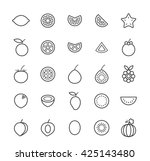set of quality isolated... | Shutterstock .eps vector #425143480
