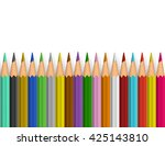 background with color pencils.... | Shutterstock .eps vector #425143810
