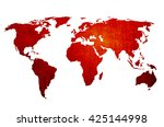 world map vintage artwork  ... | Shutterstock . vector #425144998