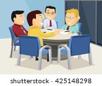 interior of meeting room.... | Shutterstock .eps vector #425148298