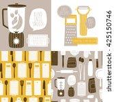 vector set of cooking... | Shutterstock .eps vector #425150746