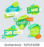 modern vector set of healthy... | Shutterstock .eps vector #425151058