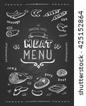 meat menu. set of meat symbols  ... | Shutterstock .eps vector #425152864