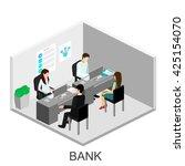 isometric interior of cabinet...   Shutterstock . vector #425154070