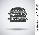 hamburger icon on gray... | Shutterstock .eps vector #425159323