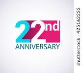 template logo 22nd anniversary  ...   Shutterstock .eps vector #425162233