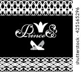 logo with the princess  the... | Shutterstock .eps vector #425165296