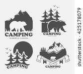 camping set of logos.  | Shutterstock .eps vector #425178079