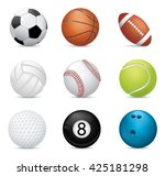 sport balls on white background | Shutterstock .eps vector #425181298