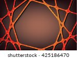 textured orange lines on brown... | Shutterstock .eps vector #425186470