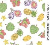noni  figs  lichee  pineapple ... | Shutterstock .eps vector #425187070