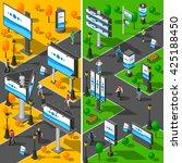 street advertising icons set.... | Shutterstock .eps vector #425188450