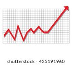 red arrow graph moving up | Shutterstock . vector #425191960