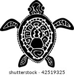 tribal tattoo turtle vector...