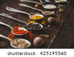 black pepper and other spices... | Shutterstock . vector #425195560