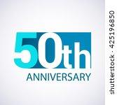 template logo 50th anniversary. ... | Shutterstock .eps vector #425196850