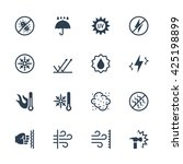 vector icons set of external... | Shutterstock .eps vector #425198899