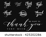 thank you   card  background ... | Shutterstock .eps vector #425202286