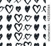 doodle black and white seamless ... | Shutterstock .eps vector #425203564