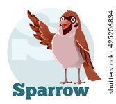 vector image of the abc cartoon ... | Shutterstock .eps vector #425206834