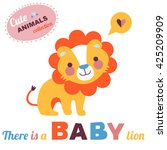 welcome baby card illustration. ... | Shutterstock . vector #425209909