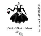 little black dresses.  | Shutterstock . vector #425209966