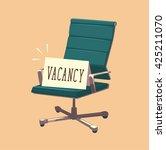 vacant chair. concept vector... | Shutterstock .eps vector #425211070