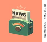 extra hot news. concept vector... | Shutterstock .eps vector #425211340