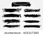 hand drawn brushes.grunge brush ... | Shutterstock .eps vector #425217283