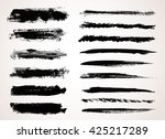 vector brush strokes.hand drawn ... | Shutterstock .eps vector #425217289