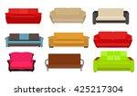 sofa icon set vector... | Shutterstock .eps vector #425217304