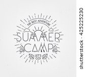 summer camp poster. traveling... | Shutterstock .eps vector #425225230
