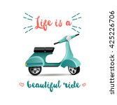 background with scooter and... | Shutterstock .eps vector #425226706