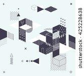 abstract modern geometric... | Shutterstock .eps vector #425228638