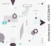 Seamless background of geometric elements | Shutterstock vector #425228644