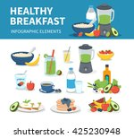 healthy breakfast infographic... | Shutterstock .eps vector #425230948