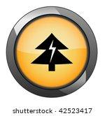 fir tree button. vector   Shutterstock .eps vector #42523417