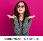 young woman beautiful portrait  ... | Shutterstock . vector #425234818