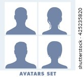 avatars set isolated on white ...