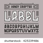 vector red handy crafted... | Shutterstock .eps vector #425239486
