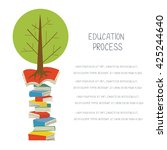 educational concept with books... | Shutterstock .eps vector #425244640
